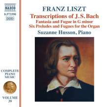 Franz Liszt (1811-1886): Klavierwerke Vol.39 - Transcriptions of J.S.Bach, CD