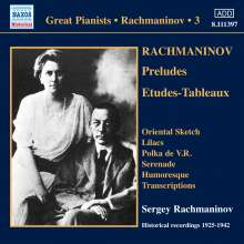 Sergej Rachmaninoff Vol.3 (Victor Recordings), CD