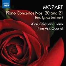 Wolfgang Amadeus Mozart (1756-1791): Klavierkonzerte Nr.20 & 21 (arr. für Klavier, Streichquartett & Kontrabass von Ignaz Lachner), CD