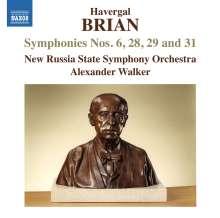 Havergal Brian (1876-1972): Symphonien Nr.6, 28, 29, 31, CD