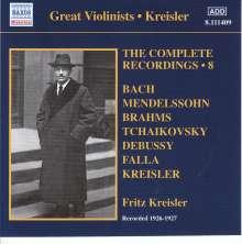Fritz Kreisler - The Complete Recordings Vol.8, CD