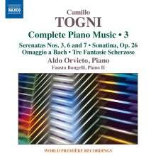 Camillo Togni (1922-1993): Sämtliche Klavierwerke Vol.3, CD