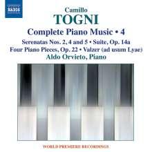 Camillo Togni (1922-1993): Sämtliche Klavierwerke Vol.4, CD