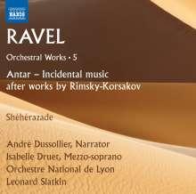Maurice Ravel (1875-1937): Orchesterwerke Vol.5, CD