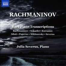 Sergej Rachmaninoff (1873-1943): Lied-Transkriptionen für Klavier, CD