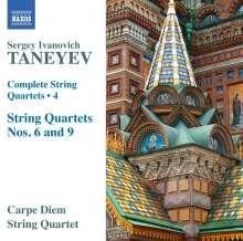 Serge Tanejew (1856-1915): Sämtliche Streichquartette Vol.4, CD