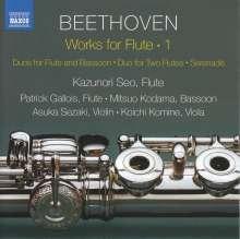 Ludwig van Beethoven (1770-1827): Werke mit Flöte Vol.1, CD