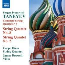 Serge Tanejew (1856-1915): Sämtliche Streichquartette Vol.5, CD