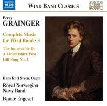 Percy Grainger (1882-1961): Werke für Bläserensemble Vol.3, CD