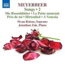 Giacomo Meyerbeer (1791-1864): Lieder Vol.2, CD
