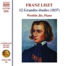 Franz Liszt (1811-1886): Klavierwerke Vol.45 - Grandes Etudes Nr.1-12 (S137), CD