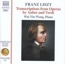 Franz Liszt (1811-1886): Klavierwerke Vol.52 - Transkriptionen aus Opern von Auber & Verdi, CD