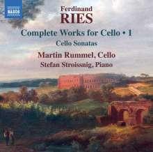 Ferdinand Ries (1784-1838): Cellosonaten Vol.1, CD