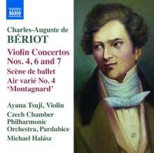 Charles-Auguste de Beriot (1802-1870): Violinkonzerte Nr.4,6,7, CD