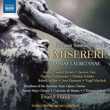 Johann Simon (Giovanni Simone) Mayr (1763-1845): Miserere, CD