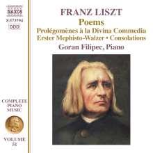 Franz Liszt (1811-1886): Klavierwerke Vol.51 - Poems, CD
