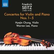 Friedrich Seitz (1848-1918): Konzerte für Violine & Klavier Nr.1-5, CD