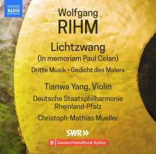 Wolfgang Rihm (geb. 1952): Werke für Violine & Orchester Vol.1 (internationale Version), CD