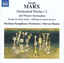 "Joseph Marx (1882-1964): Orchesterwerke Vol.2 ""Alt-Wiener Serenaden"", CD"