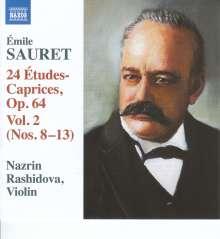 Emile Sauret (1852-1920): 24 Etudes-Caprices op.64 Vol.2, CD