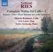 Ferdinand Ries (1784-1838): Sämtliche Werke mit Cello Vol.2, CD