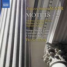 Johann Simon (Giovanni Simone) Mayr (1763-1845): Motetten Vol.2, CD