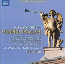 Gaetano Donizetti (1797-1848): Vesper Psalms, CD