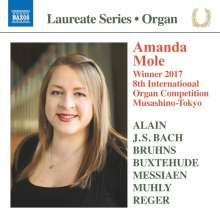 Amanda Mole - Winner 2017 8th International Organ Competition Musashino-Tokyo, CD