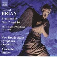 Havergal Brian (1876-1972): Symphonien Nr.7 & 16, CD