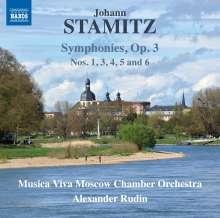 Johann Stamitz (1717-1757): Symphonien op.3 Nr.1,3-6, CD