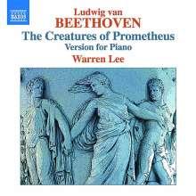 Ludwig van Beethoven (1770-1827): Die Geschöpfe des Prometheus op.43 (arrangiert für Klavier), CD