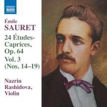 Emile Sauret (1852-1920): 24 Etudes-Caprices op.64 Vol.3, CD