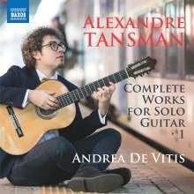 Alexandre Tansman (1897-1986): Sämtliche Gitarrenwerke Vol.1, CD