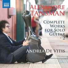 Alexandre Tansman (1897-1986): Sämtliche Gitarrenwerke Vol.2, CD