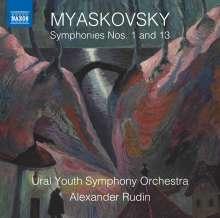 Nikolai Miaskowsky (1881-1950): Symphonien Nr.1 & 13, CD