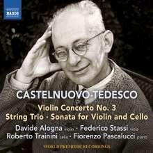 Mario Castelnuovo-Tedesco (1895-1968): Konzert für Violine & Klavier Nr.3, CD