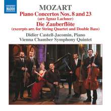 Wolfgang Amadeus Mozart (1756-1791): Klavierkonzerte Nr.8 & 23 (arr. für Klavier & Streichquintett von Ignaz Lachner), CD