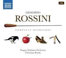 Gioacchino Rossini (1792-1868): Sämtliche Ouvertüren, 4 CDs