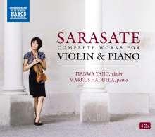 Pablo de Sarasate (1844-1908): Musik für Violine & Klavier, 4 CDs