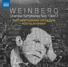 Mieczyslaw Weinberg (1919-1996): Kammersymphonien Nr.1 & 3, CD