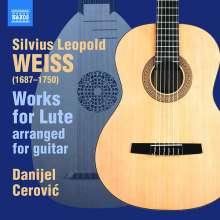 Silvius Leopold Weiss (1687-1750): Lautenwerke (arrangiert für Gitarre), CD