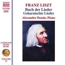 Franz Liszt (1811-1886): Klavierwerke Vol. 57 - Buch der Lieder / Geharnischte Lieder, CD