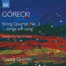 """Henryk Mikolaj Gorecki (1933-2010): Streichquartett Nr.3 """"Songs are sung"""", CD"""