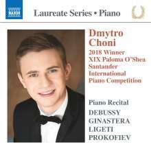 Dmytro Choni - 2018 Winner XIX Paloma O'Shea Santander International Piano Competition, CD