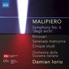 "Gian Francesco Malipiero (1882-1974): Symphonie Nr.6 ""degli archi"", CD"