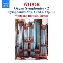 Charles-Marie Widor (1844-1937): Die Orgelsymphonien Vol.2, CD
