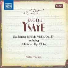 Eugene Ysaye (1858-1931): Sonaten für Violine solo op.27 Nr.1-6, 2 CDs