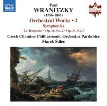 Paul Wranitzky (1756-1808): Orchesterwerke Vol.2, CD
