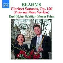 Johannes Brahms (1833-1897): Flötensonaten op.120 Nr.1 & 2 (nach den Klarinettensonaten), CD