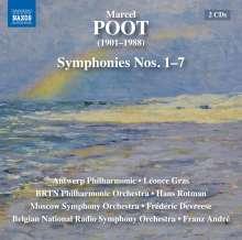 Marcel Poot (1901-1988): Symphonien Nr.1-7, 2 CDs